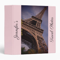 Paris Eiffel Tower Famous Landmark Photo 3 Ring Binder