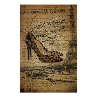 paris eiffel tower fashionista girly shoes stationery