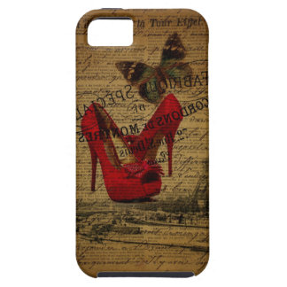 Paris eiffel tower fashionista red stilettos iPhone SE/5/5s case