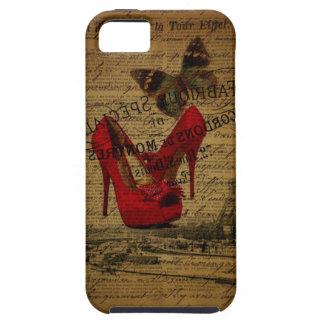 Paris eiffel tower fashionista red stilettos iPhone SE/5/5s case