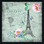 "Paris-Eiffel Tower-Flower-Floral-Vintage-Roses Photo Print<br><div class=""desc"">Wonderful watercolor illustration of Old Paris with Eiffel-Tower and floral Elements. Made with love by Utart</div>"