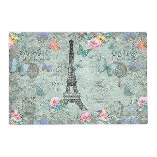 Paris-Eiffel Tower-Flower-Floral-Vintage-Roses Placemat