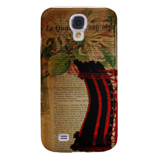 paris eiffel tower flower vintage corset samsung galaxy s4 cover