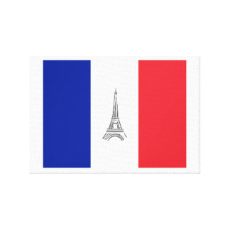 French Flag Wrapped Canvas Prints  Zazzle