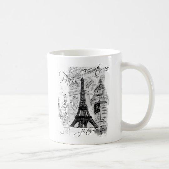 Paris Eiffel Tower French Scene Collage Coffee Mug