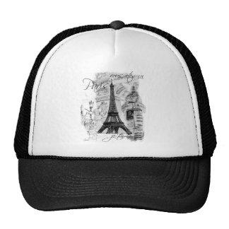 Paris Eiffel Tower French Scene Collage Trucker Hat