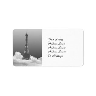 Paris Eiffel Tower Gift Tag Name Address Labels at Zazzle