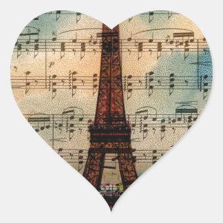 Paris Eiffel Tower Heart Sticker