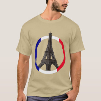 Paris Eiffel Tower in Circle Men's Basic T-Shirt
