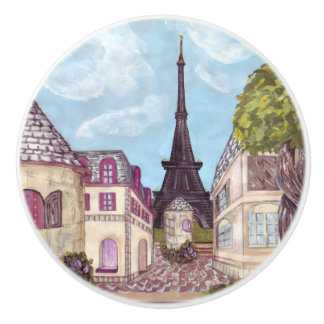 Paris Eiffel Tower inspired landscape drawer knob