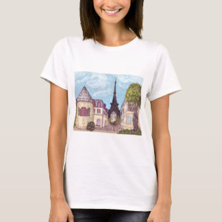 Paris Eiffel Tower inspired landscape tshirt