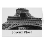 Paris Eiffel Tower Joyeux Noel Cards