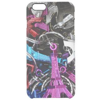 Paris Eiffel Tower Keyrings Clear iPhone 6 Plus Case