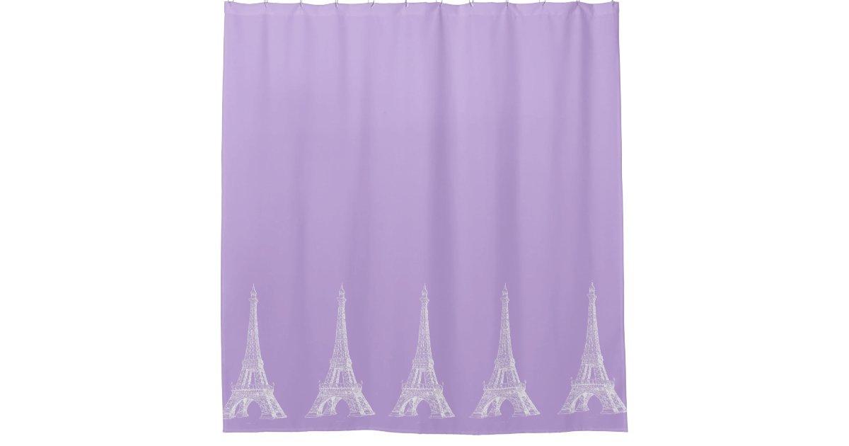 Paris Eiffel Tower Lavender Shower Curtain | Zazzle.com