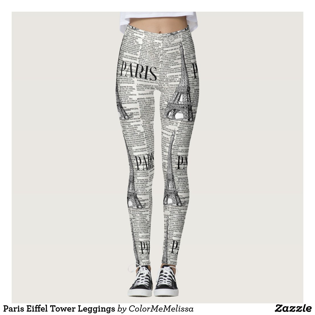 Paris Eiffel Tower Leggings