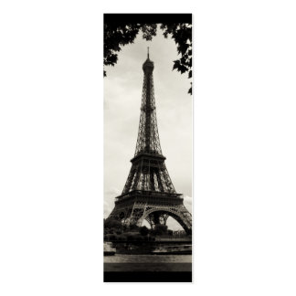 Paris Eiffel Tower Mini Bookmark Double-Sided Mini Business Cards (Pack Of 20)