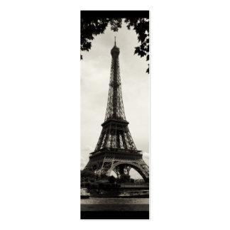 Paris Eiffel Tower Mini Bookmark Business Card Templates