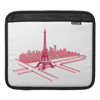 Paris Eiffel Tower Modern Sketch Sleeve For iPads