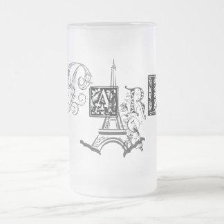 Paris Eiffel Tower Glass Beer Mug