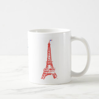 Paris Eiffel tower mug for left handed and .....