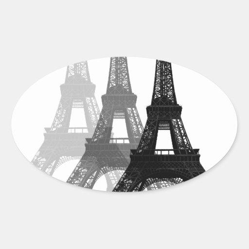Paris Eiffel Tower Oval Sticker