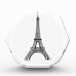 paris eiffel tower peace and love acrylic award