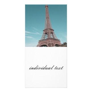 Paris Eiffel Tower Personalized Photo Card