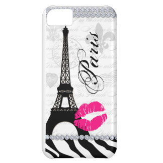 Paris Eiffel Tower Pink Lips Cell Phone Cover iPhone 5C Covers