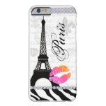 Paris Eiffel Tower Pink Lips Cell Phone Cover OP Barely There iPhone 6 Case