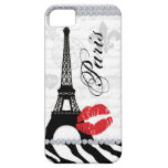 Paris Eiffel Tower Pink Lips Cell Phone Cover red iPhone 5 Covers