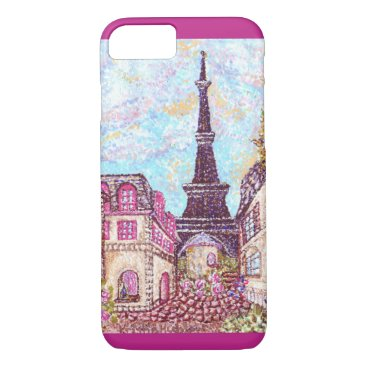fabricatedframes Paris Eiffel Tower pointillism iPhone 7 case