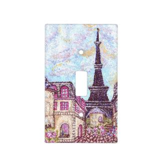 Paris Eiffel Tower pointillist lightswitch cover