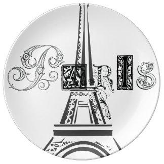 Paris Eiffel Tower Porcelain Plate