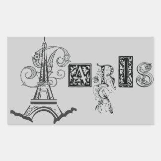Paris Eiffel Tower Rectangular Sticker