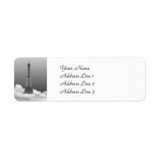 Paris Eiffel Tower Return Address Labels at Zazzle