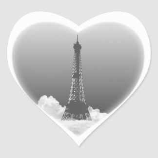 Paris Eiffel Tower Romantic Heart Shape Stickers