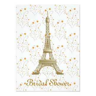 Paris Eiffel Tower Scroll Pattern Bridal Shower Card