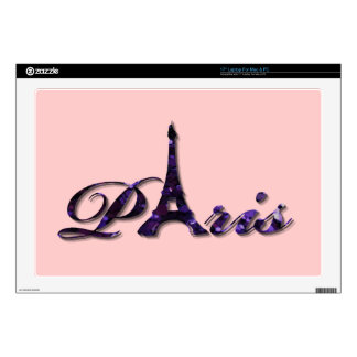"Paris Eiffel Tower Sequin Glitter Sparkle 17"" Laptop Skin"