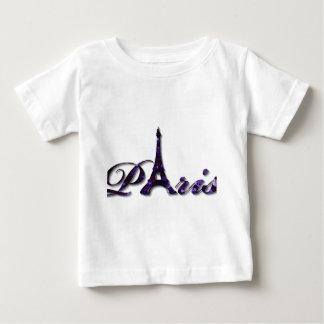 Paris Eiffel Tower Sequin Glitter Sparkle Baby T-Shirt