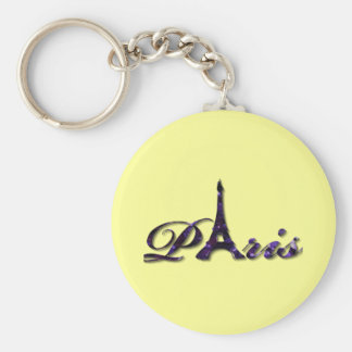 Paris Eiffel Tower Sequin Glitter Sparkle Keychain