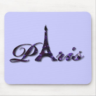 Paris Eiffel Tower Sequin Glitter Sparkle Mouse Pad