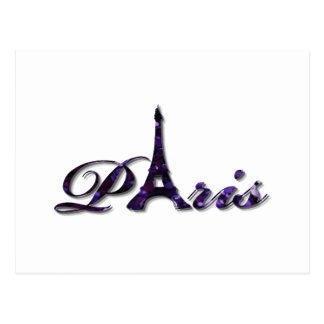Paris Eiffel Tower Sequin Glitter Sparkle Postcard