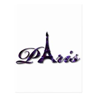 Paris Eiffel Tower Sequin Glitter Sparkle Postcards