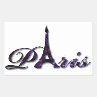 Paris Eiffel Tower Sequin Glitter Sparkle Rectangular Sticker