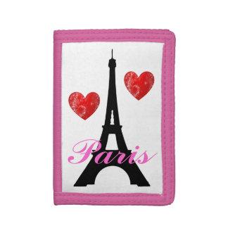 Paris Eiffel Tower Sparkle Hearts Wallet