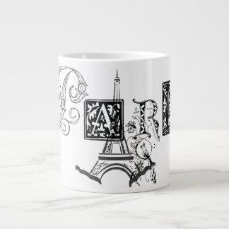 Paris Eiffel Tower 20 Oz Large Ceramic Coffee Mug