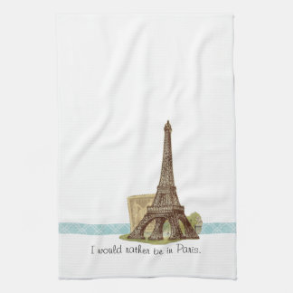 Paris Eiffel Tower Tea Towel Kitchen Towel Kitchen Towels