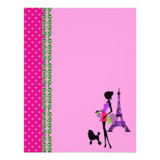 Paris Eiffel Tower Theme Scrapbook Paper Letterhead