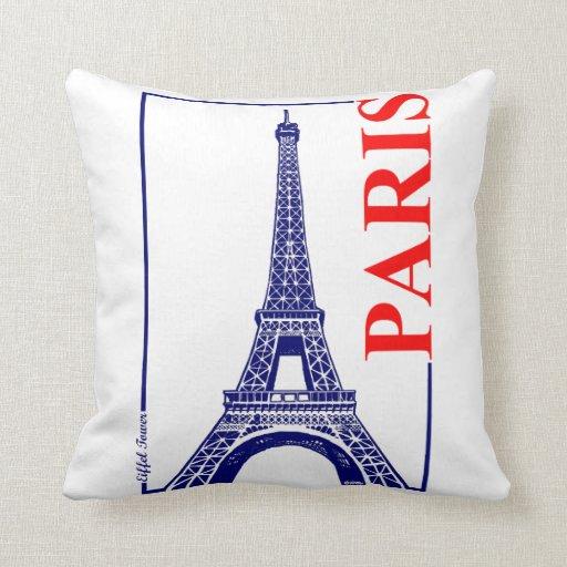 Paris-Eiffel Tower Throw Pillows Zazzle