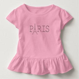 Paris Eiffel Tower toddler girl's t-shirt